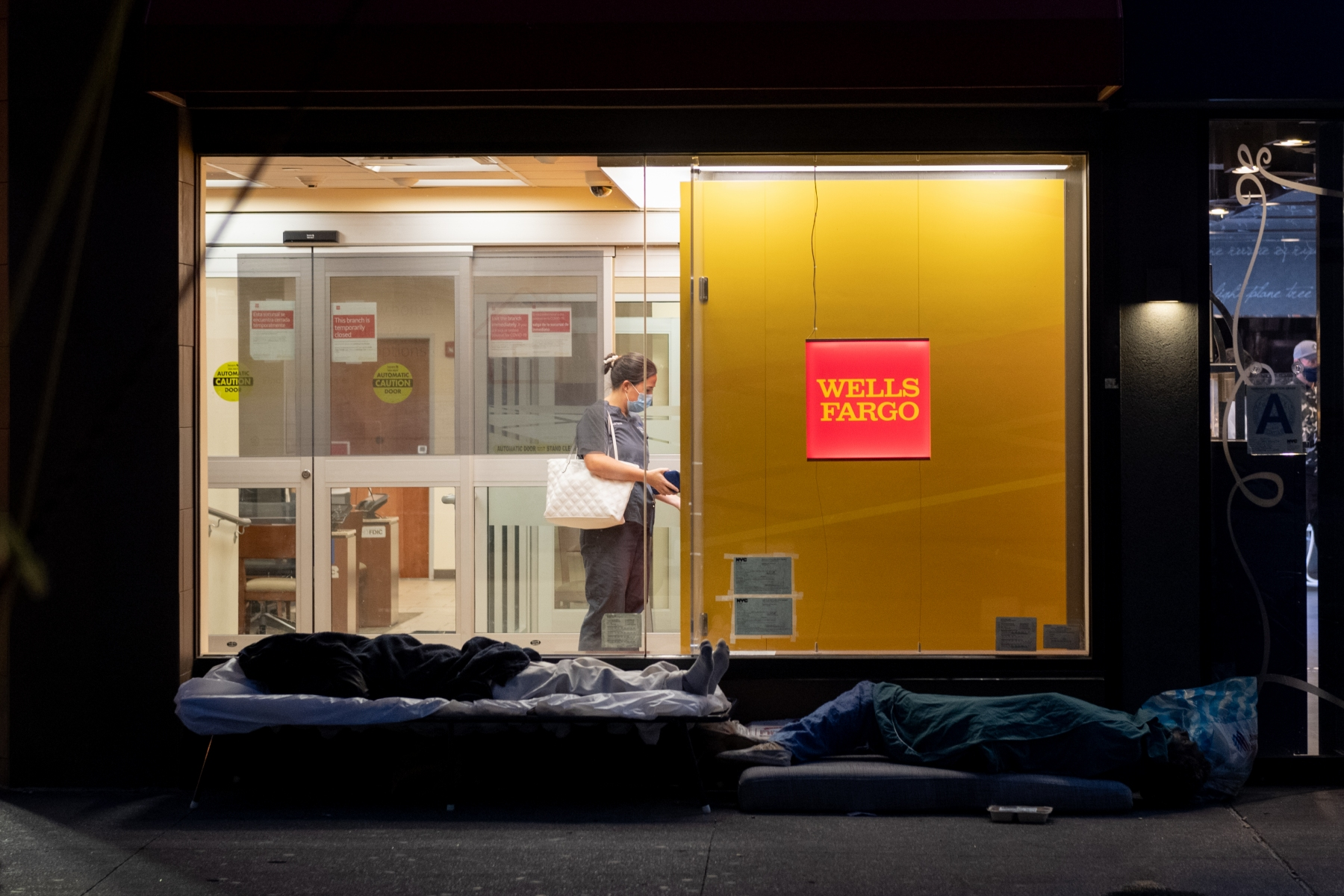 """2ND PLACE - Alexi Rosenfeld – Independent – """"Homelessness Next to Banking"""""""